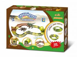 Динопарк Гибкий трек Мини-мост 102 детали