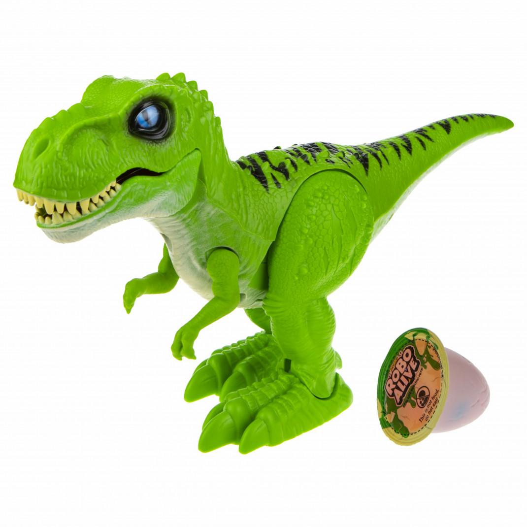 Фото - Zuru ZURU Игровой набор Робо-Тираннозавр RoboAlive (зеленый) + слайм робо змея zuru roboalive