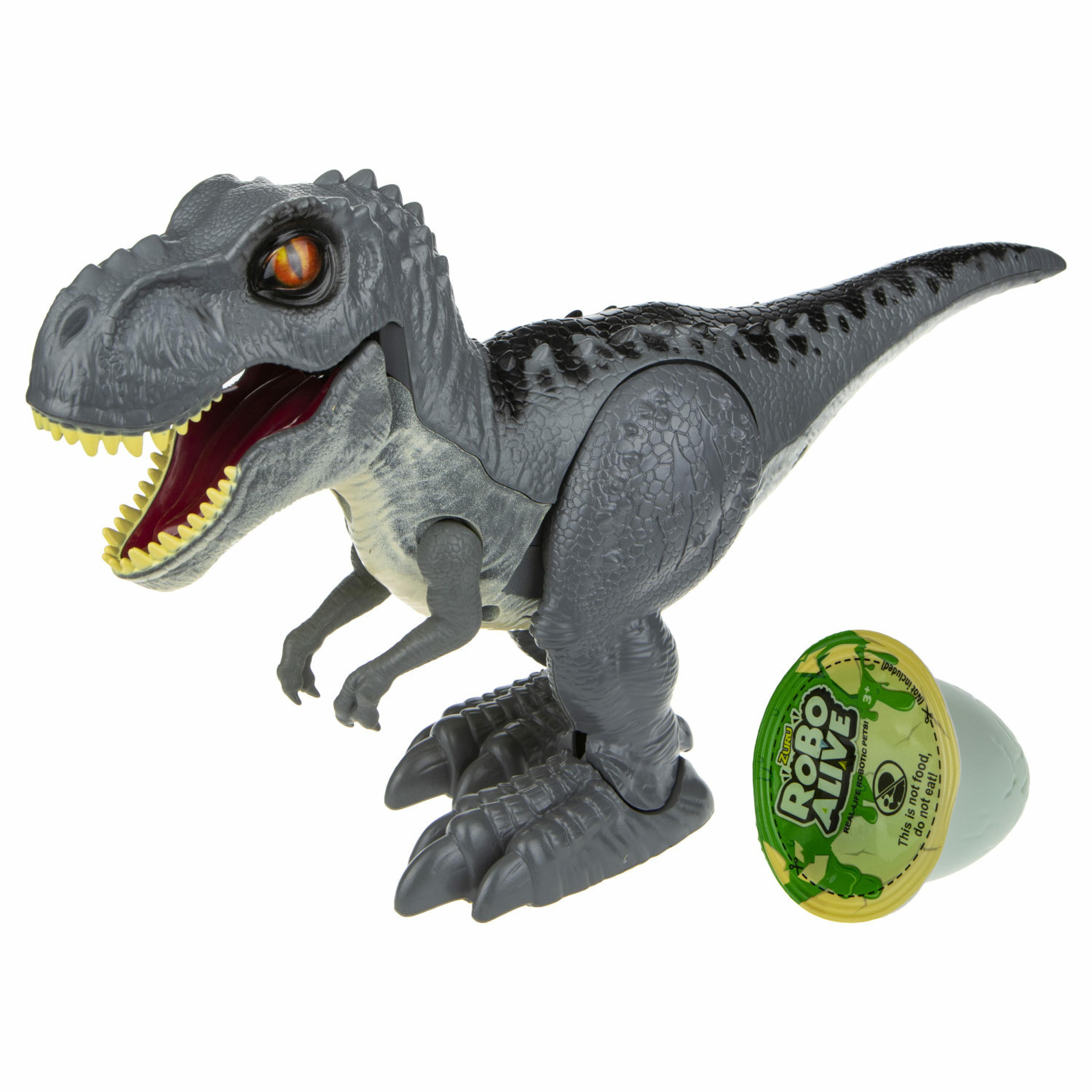 ZURU Игровой набор Робо-Тираннозавр RoboAlive (серый ) + слайм