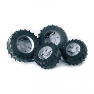Bruder Шины для системы сдвоенных колёс с серыми дисками