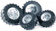 Bruder Шины для системы сдвоенных колёс с серебристыми дисками