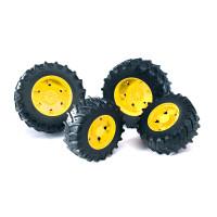 Аксессуары Bruder K: Шины для системы сдвоенных колёс с жёлтыми дисками 4шт.
