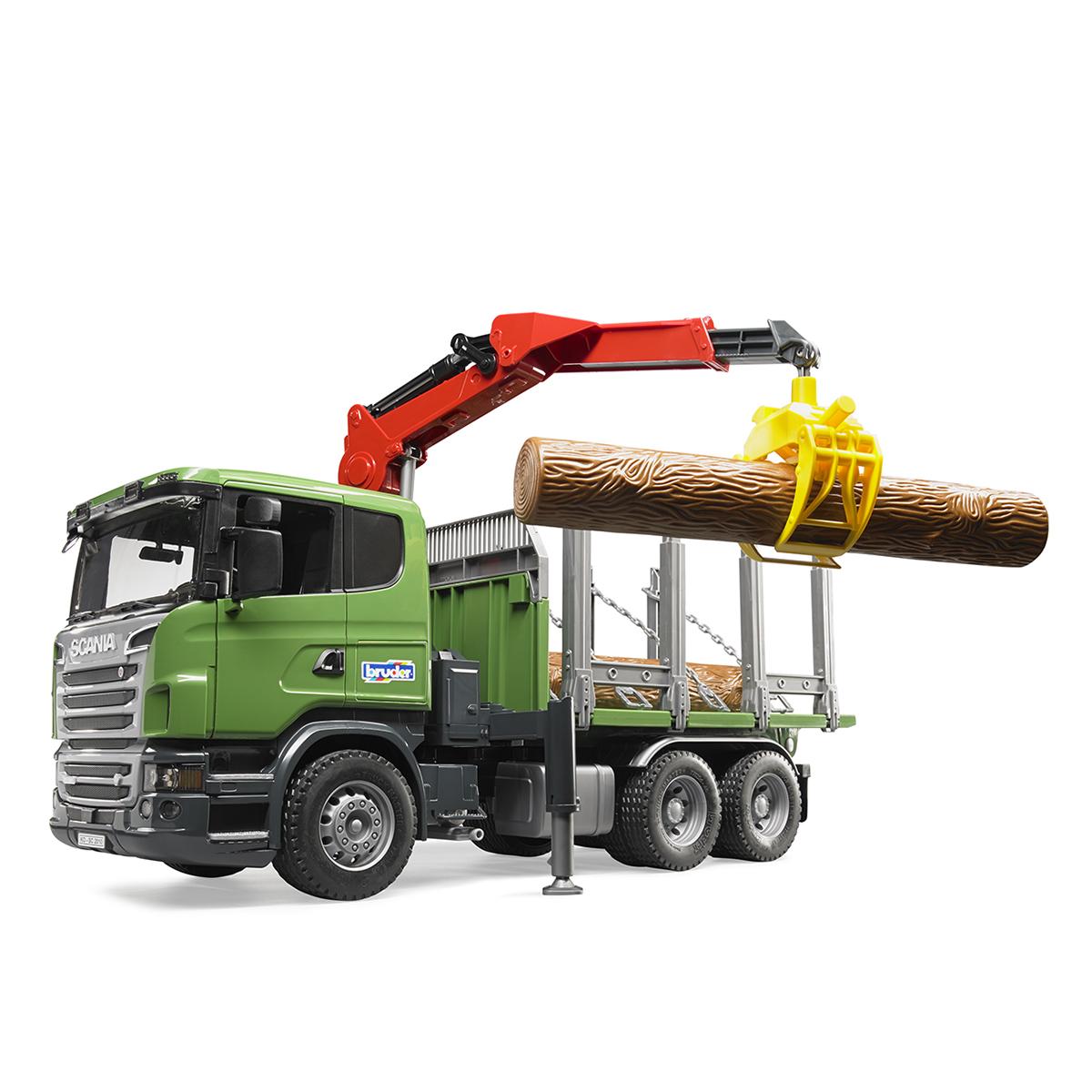 Купить 03-524, Лесовоз Bruder Scania с портативным краном и брёвнами (подходит модуль со звуком и светом H ), Мужской (shop: GulliverMarket Gulliver Market)