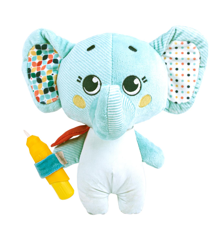 Игрушка-раскраска Слоник Джамбо/ мягкая игрушка для раскрашивания водой/подарок для малышей Happy Snail 20HS05EJ