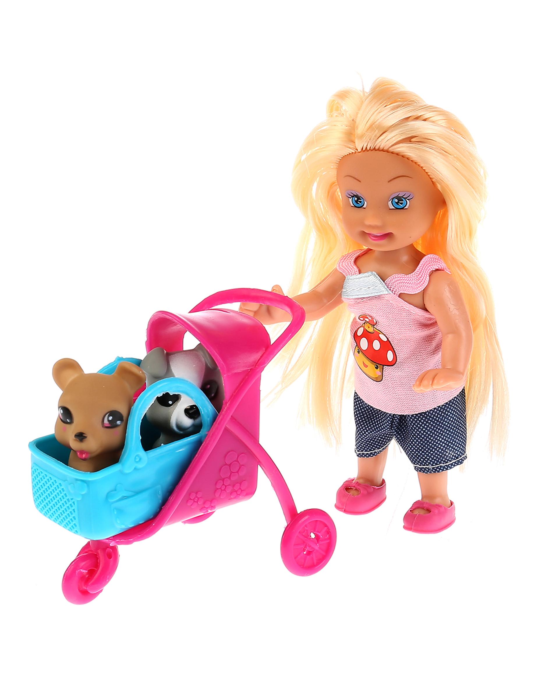 Карапуз Кукла Машенька с питомцами и набором для пикника