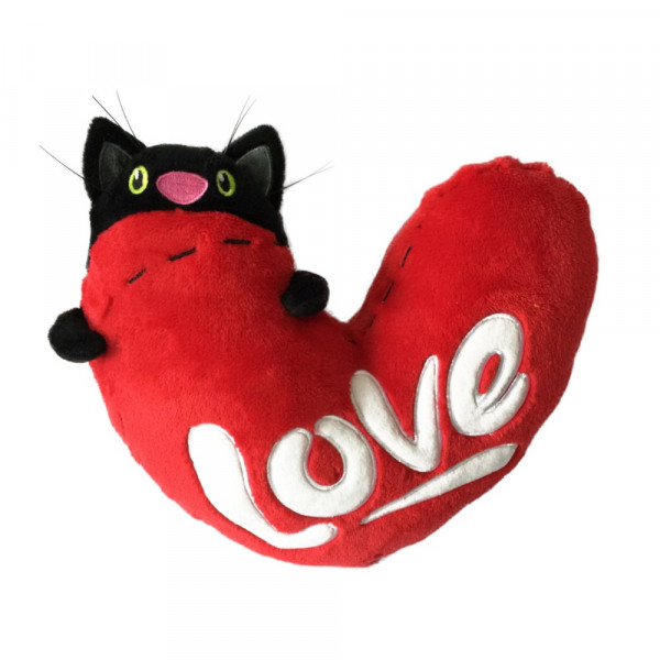 Мягкая игрушка Gulliver Кот с сердцем 23 см