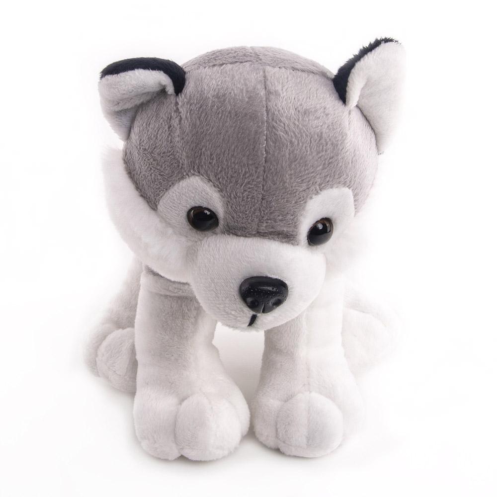 Button Blue мягкая игрушка Собака Хаски Грей