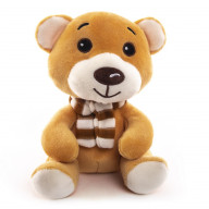 """Мягкая игрушка  """"Button Blue"""", Мишка в шарфике, 19 см."""