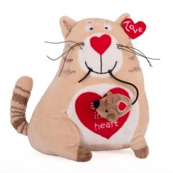 Купить 51-T78022C, Мягкая игрушка Gulliver Кот и мышь «Любовь с первого взгляда», 20 см, Gulliver мягкая игрушка (shop: GulliverMarket Gulliver Market)
