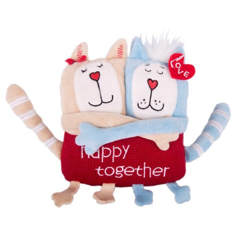 Купить 51-T78022D, Мягкая игрушка Gulliver Кот и кошка «Счастливы вместе», 15 см, Gulliver мягкая игрушка (shop: GulliverMarket Gulliver Market)