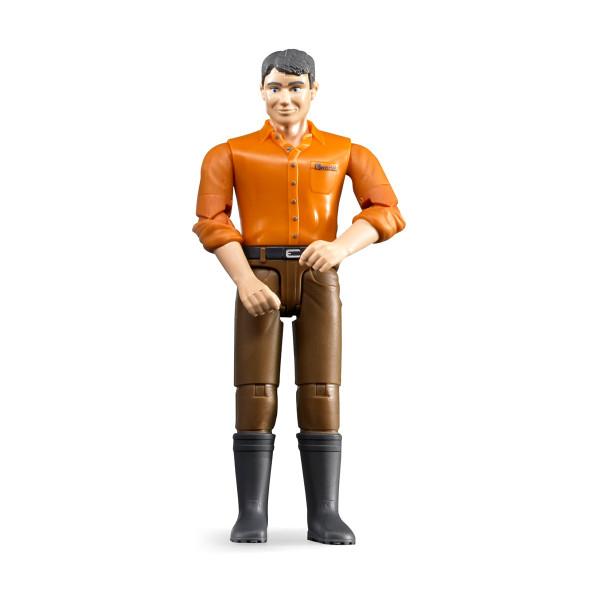 Фигурка Bruder мужчины коричневые джинсы