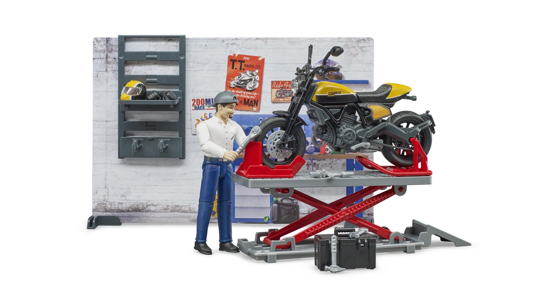 Купить 62-102, Ремонтный набор с жёлтым Ducati, Bruder, Мужской (shop: GulliverMarket Gulliver Market)