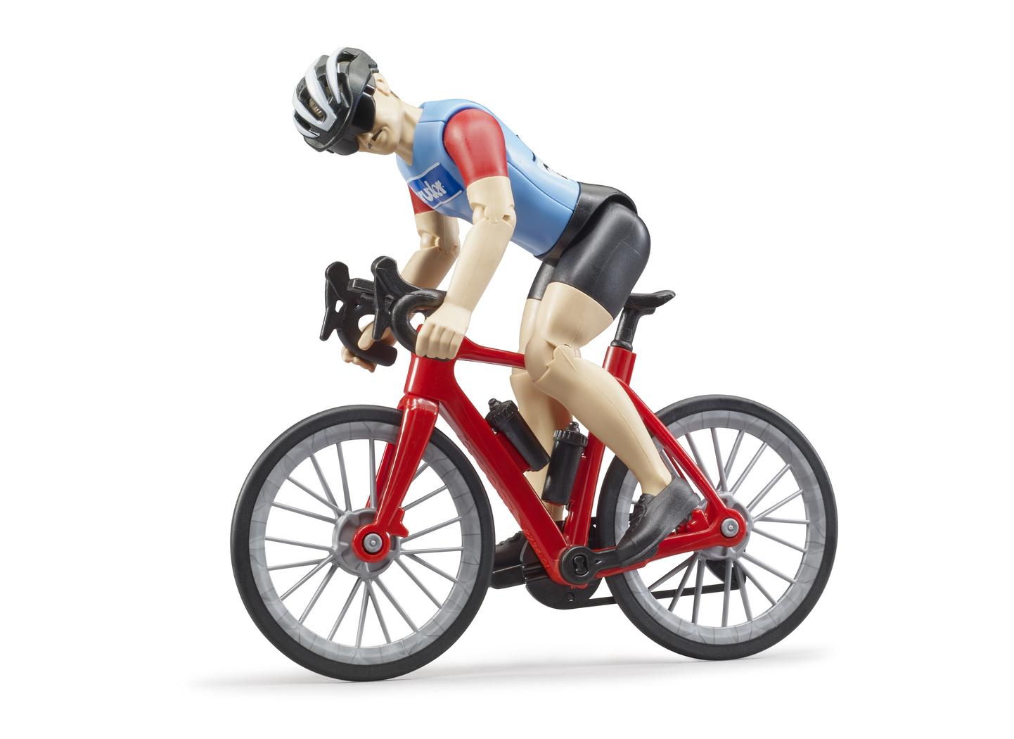 Купить 63-110, Велосипед с фигуркой, Bruder, Мужской|Женский (shop: GulliverMarket Gulliver Market)