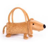 Собачка-сумочка Button Blue коричневая, 35 см