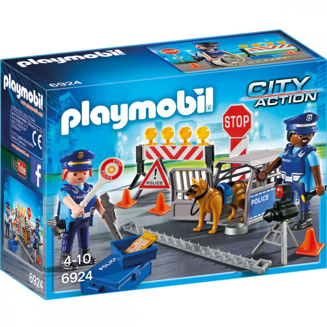 Playmobil Конструктор Playmobil Полиция: Блокпост Полиции