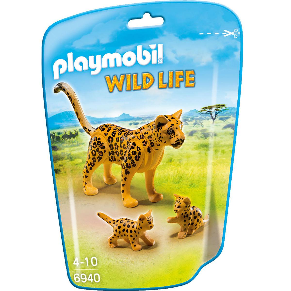 Африка: Леопард с детенышами