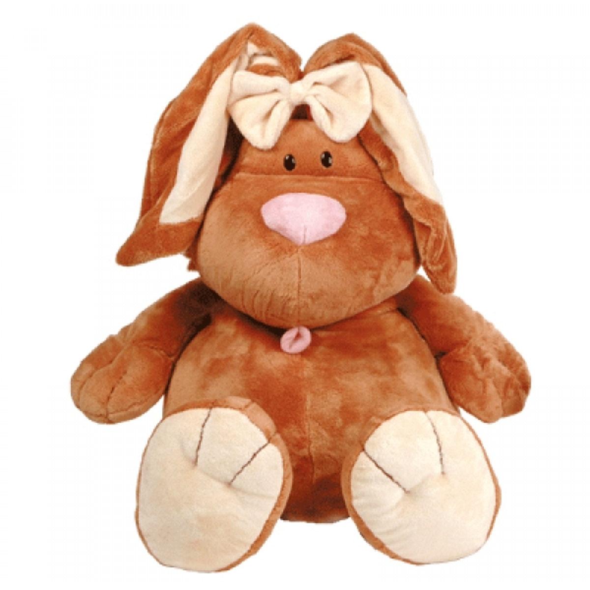 Купить 7-42045, Мягкая игрушка Gulliver Кролик КОРИЧНЕВЫЙ сидячий, 40 см, Gulliver мягкая игрушка (shop: GulliverMarket Gulliver Market)