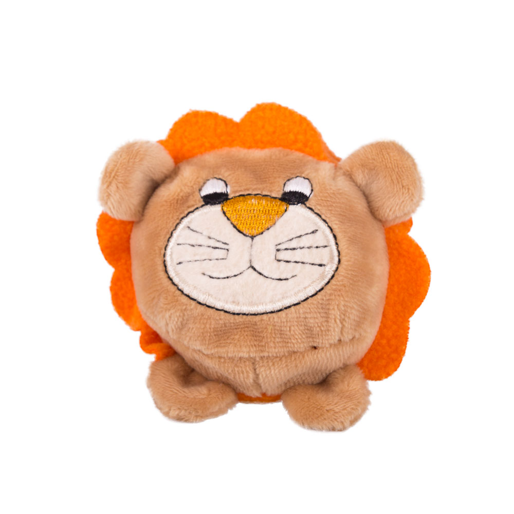 Button Blue мягкая игрушка Лев коричневый