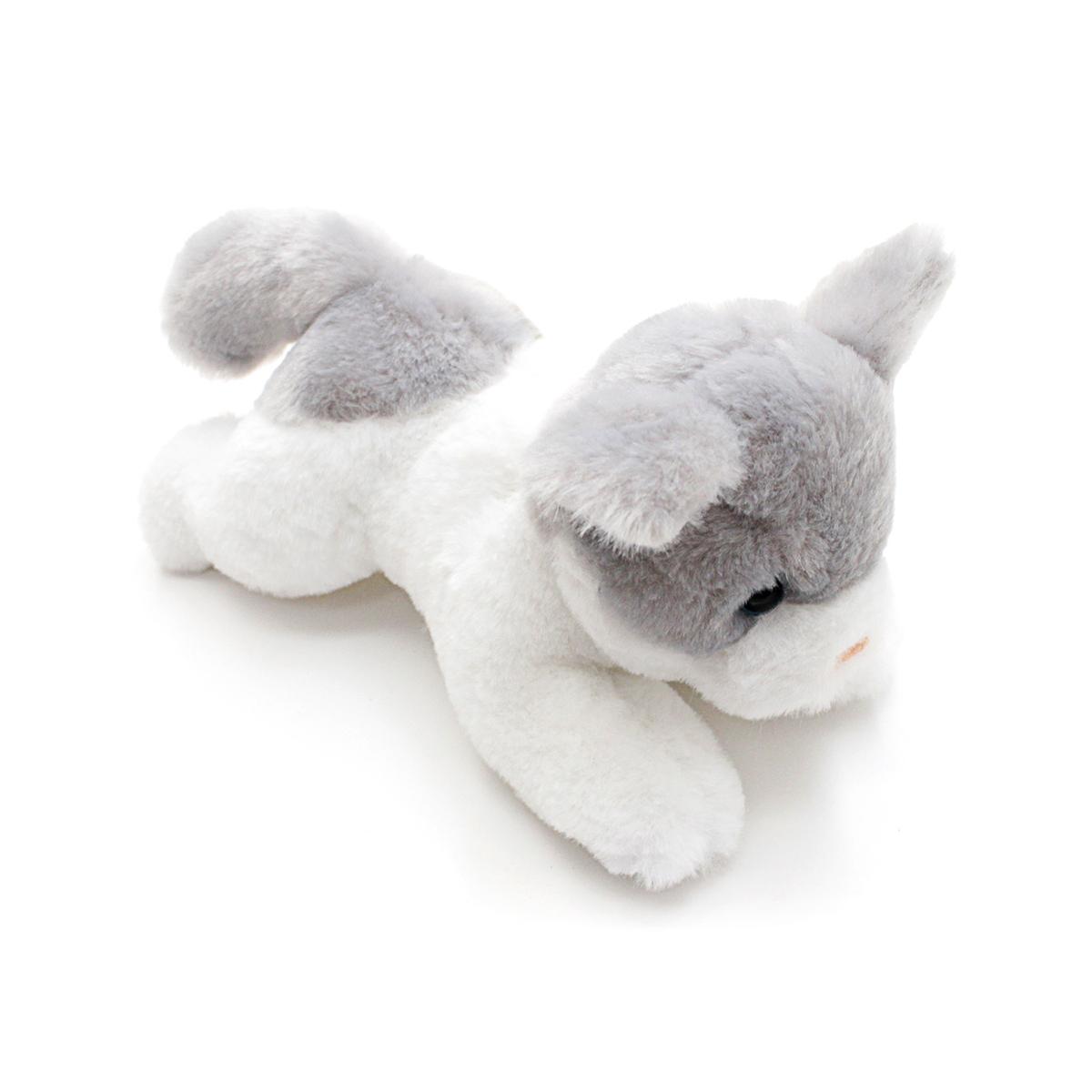 Button Blue мягкая игрушка котенок бело-серый