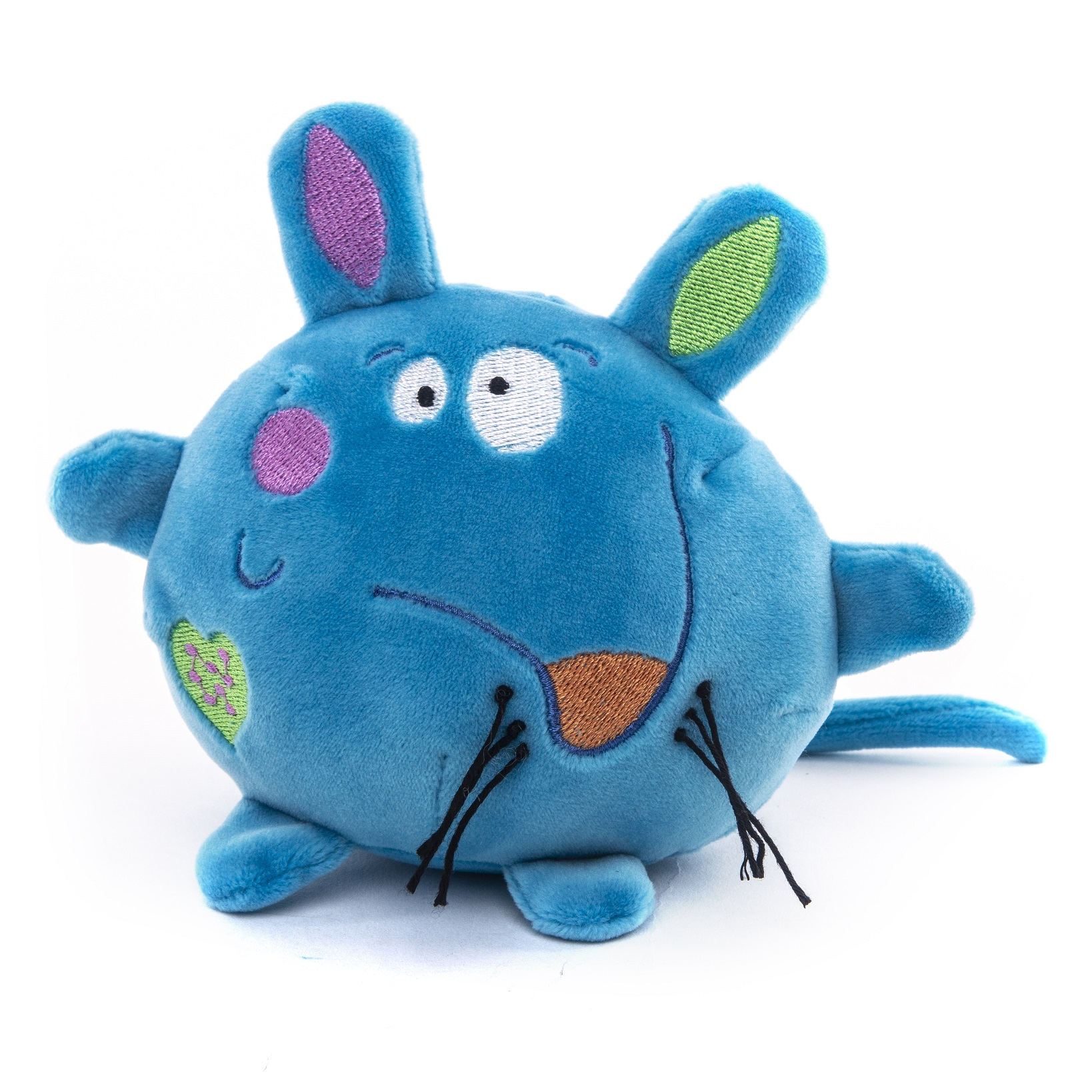 Button Blue мягкая игрушка Мышка синяя
