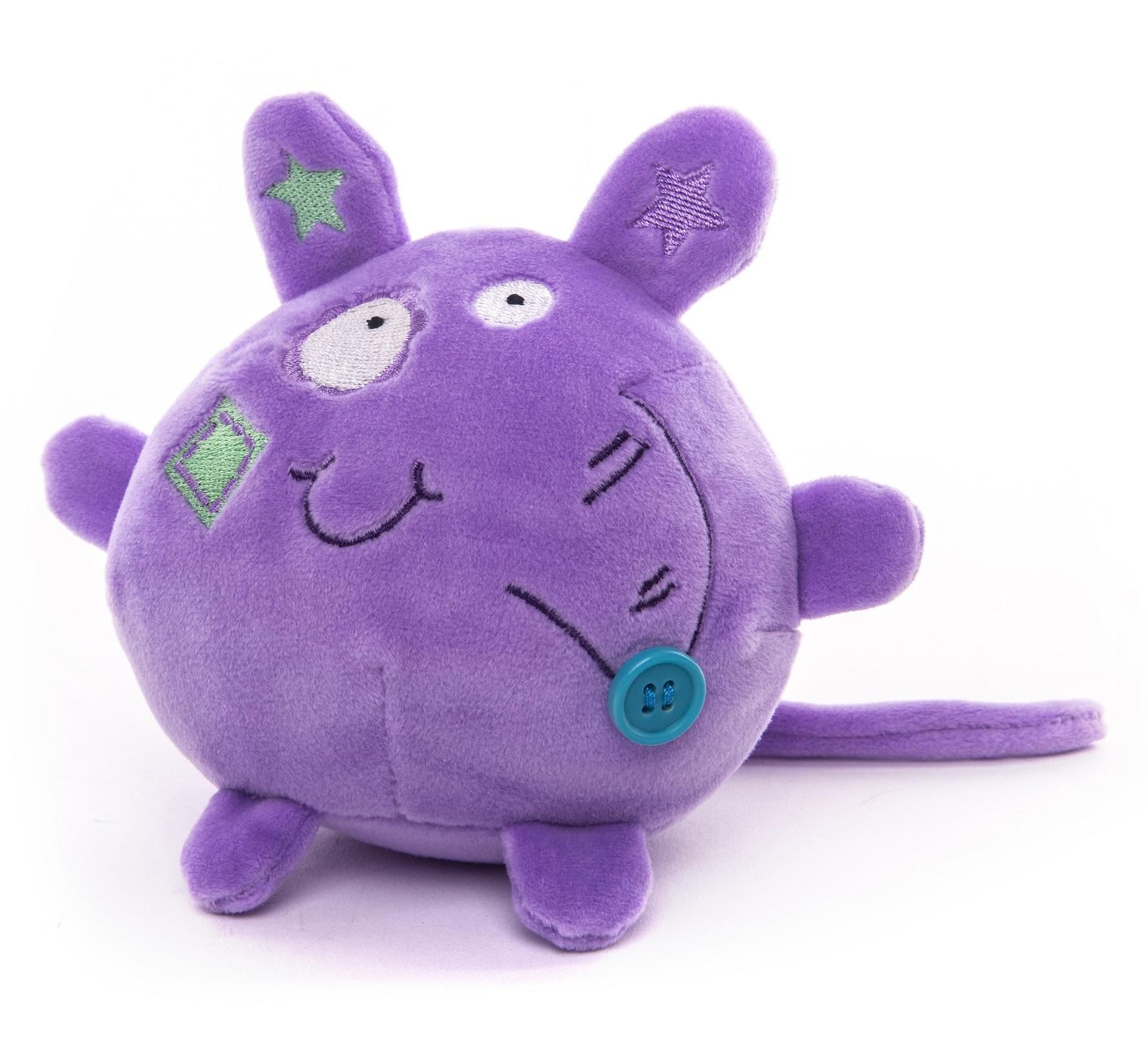 Button Blue мягкая игрушка Мышка фиолетовая