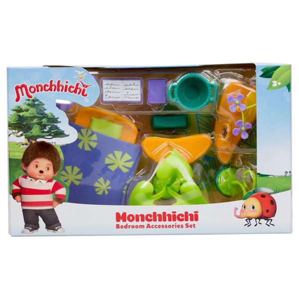Набор аксессуаров для спальной комнаты Monchhichi (с фиолетовым ковром)