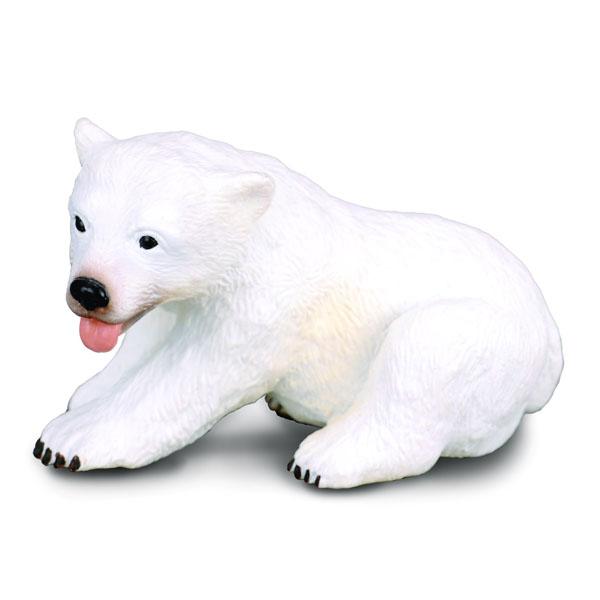 Фигурка Collecta Медвежонок полярного медведя (сидящий),(блист.), S 88216