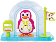 Пингвин в домике, розовый
