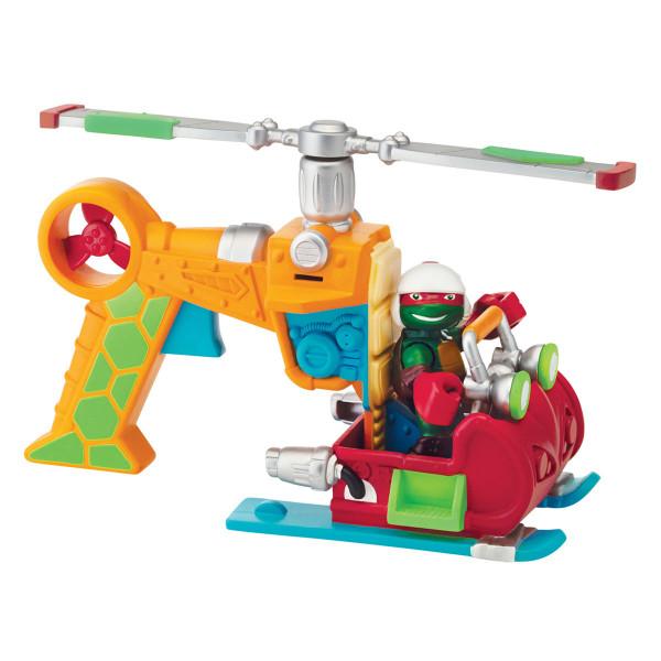 Фигурка Черепашки-ниндзя Раф 6 см с вертолетом, серия Half Shell Hero