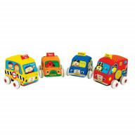 Машинки мягкие с инерционным механизмом K'S Kids, набор 4 шт.