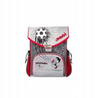Школьный рюкзак Футбол (серый)