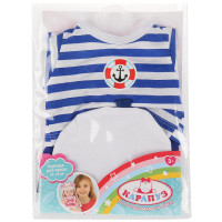 "Одежда для кукол 40-42 см, костюм с шапкой ""моряк"" Карапуз"