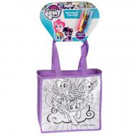 Сумочка для росписи MultiArt My Little Pony, с фломастерами и стразами на блистере